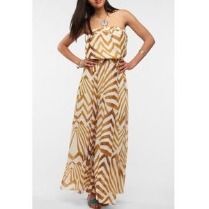 Urban Outfitters Strapless Chevron Maxi Dress
